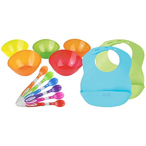 6-Pack Soft-Tip Infant Spoons with 5 Pack Multi Bowl Set