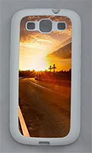 Sunset Road TPU Case Cover for Samsung Galaxy S3 I9300 White