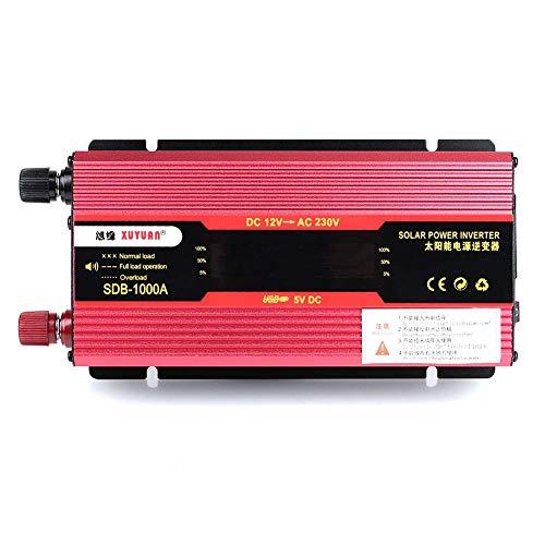 DJhjgfkjh Car Inverter Car Inverter Portable Modified Sine Converter Charger LED (Color : 12V bis 220V 550W, Size : - Wave 700w Lcd Sine