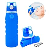 ProCIV Travel Water Bottle 1000ML, Silicone Water Bottle Foldable With Leakproof Collapsible Water Dispenser Lightweight Anti Leakage Portable Mug for Sports Travel