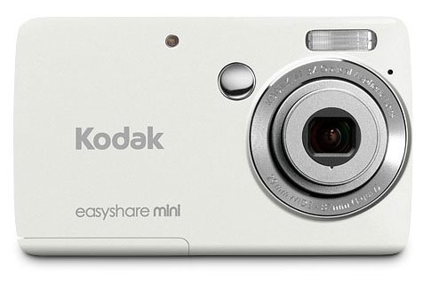 Kodak EasyShare Mini M200 10 MP Digital Camera with 3x Optical Zoom and 2.5-Inch LCD - White