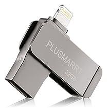 iPhone フラッシュドライブ USBメモリ 32gb iPad iPod touchの容量...