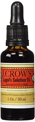 J.CROW'S Lugol's Solution of Iodine 5% the Trusted Original Since 1829