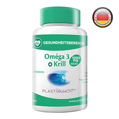 Omega 3 Krillöl Fettsäuren - Sehr reich an Anti-Oxidantien und trägt zur guten Funktion der Herz-Kreislauf- , Gehirn- , Hormon- und Entzündungshemmenden Systeme bei - 60 Kapseln