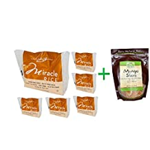 Miracle Noodle, Miracle Rice, 8 oz (227 g)( 6 PACK ) + Now Foods, Real Food, Mango Slices, 10 oz (284 g)
