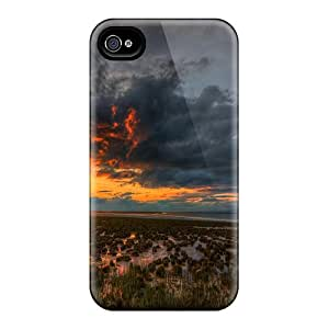 Protective Cases With Fashion Design For Iphone 6 (beautiful Sunset Over Swamp)