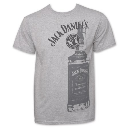 Jack Daniels 22799L Jack Daniels Whiskey Bottle Logo T-Shirt44; Large (Jack Daniels Single Barrel Select Tennessee Whiskey Cena)