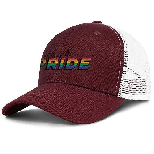 ZWEN Script Logo Light Gay Pride Rainbow Mesh Back Cap Vintage Quick Dry Adjustable Unisex Sun Hats