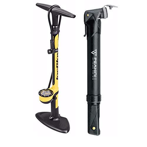 (Topeak Bike Pump Duo Kit: Includes Joe Blow Sport III High Pressure Floor Pump and Peakini II Mini Road Pump)