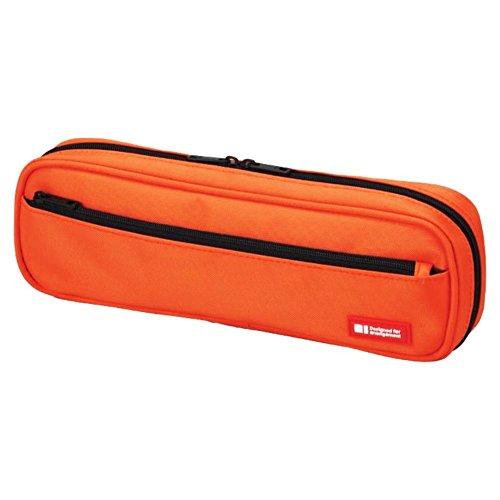 LIHIT LAB Pen Case, 9.4 x 1.8 x 3 inches, Orange