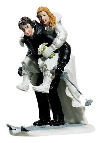 Weddingstar Winter Skiing Wedding Couple Figurine