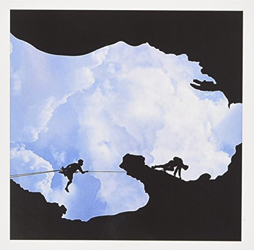 3dRose Greeting Cards, Michigan Climbers Shows Two People Rock Climbing within A Michigan Silhouette, Set of 6 (gc_19469_1) (Silhouette People)