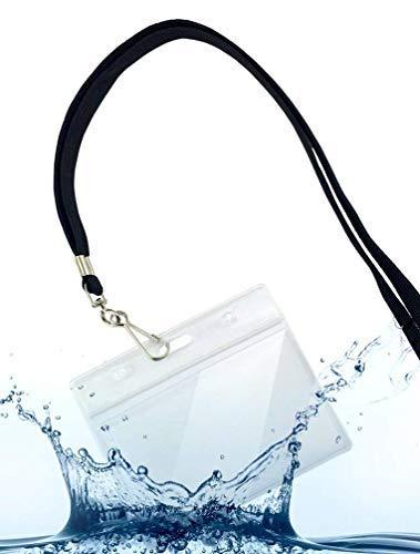 Fushing 30 Livelli di Trasparenti Possessori Nome Tag Plastica e 30 della Cinghia Collare Piatto con Gancio Girevole