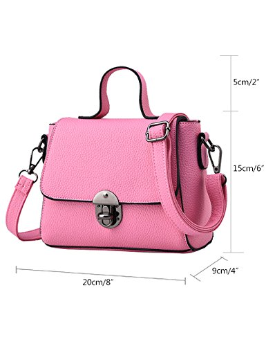 Body Bags Cross Pink Bag Women's Pink Bags Hand Handle PU Bag Shoulder wtq0wxF7a