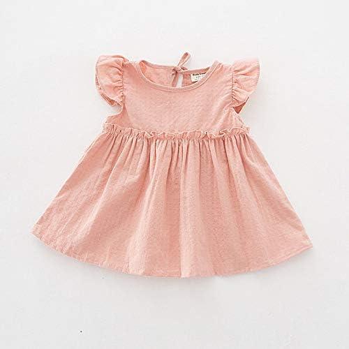 Yichener Vestido de Verano para bebé niña, Ropa de algodón para niñas, Vestido de cumpleaños para 1 año 24M: Amazon.es: Jardín