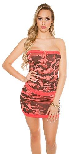 In-Stylefashion - Vestido - para mujer rojo claro