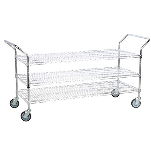 Chrome Open Base Utility Cart - TableTop King 18
