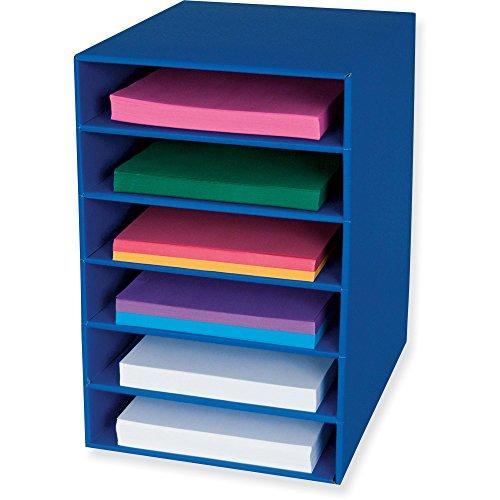 Pacon Six Shelf Organizer - Classroom Keepers 6-Shelf Organizer, Blue (001312)