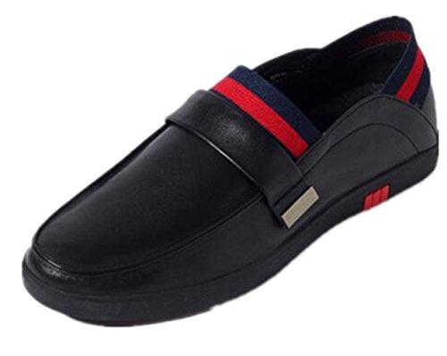 Happyshop (tm) Slip In Pelle Da Uomo Su Scarpe Da Lavoro Di Penny Loafer Car Shoes Nere
