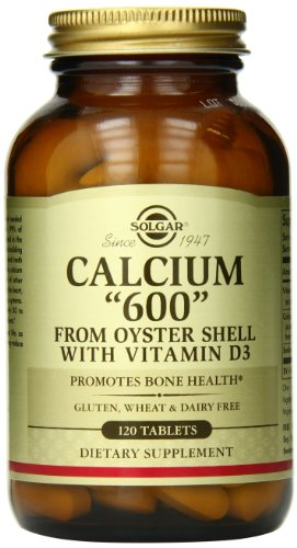 """Solgar – Calcium """"600"""" (from Oyster Shell) with Vitamin D3, 120 Tablets"""