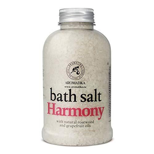 [Gesponsert]Badesalz Harmonie 600g - Meersalz mit Natürlichem Ätherischen Rosenholzöl & Grapefruitöl - Natur Bade Salz am...
