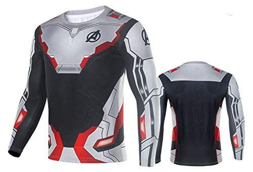 Riekinc Superhero Adult Quantum Realm Advanced Tech Sweatshirt Sport Suit Cosplay Costume