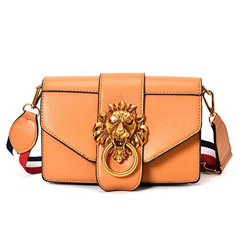- Onzama Women Designer Shoulder Bags Metal Ring Lion Head Purse Envelope Clutches for Ladies