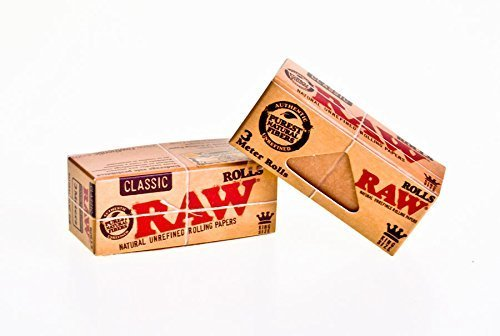 Raw Rolls Classic Rolling Paper King Size 55mm 3 Meter ( 9 Feet ) 2 packs