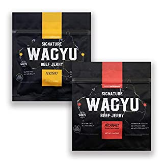 Greg Norman Signature Wagyu Beef Jerky - Variety 2oz Duo Pack - All Natural 100% Australian Wagyu Beef