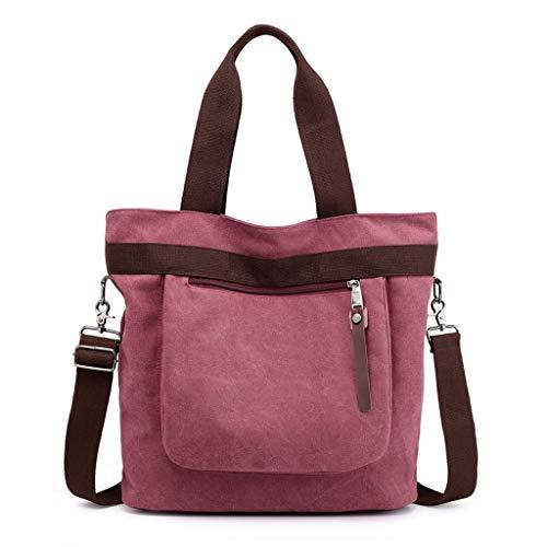 Crossbody Bag Voyage Mesdames Sacs Grande Satchel CHENGYI Messenger Capacité Mode Red Casual Toile Épaule qwptPdv