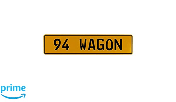 Vintage Parts 563305 94 Wagon Yellow Stamped Aluminum European Plate