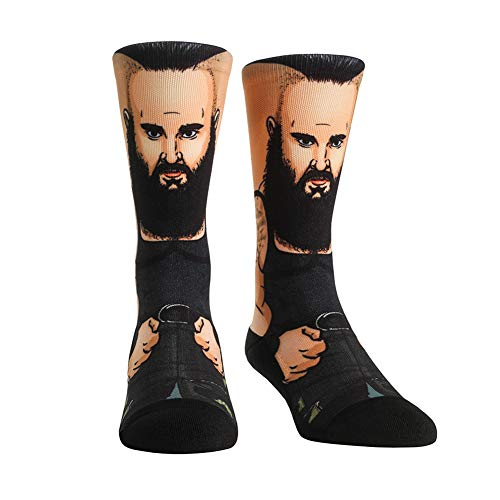 WWE Authentic Wear Braun Strowman Rock 'Em Socks Multi 9-13 (Wwe 11)