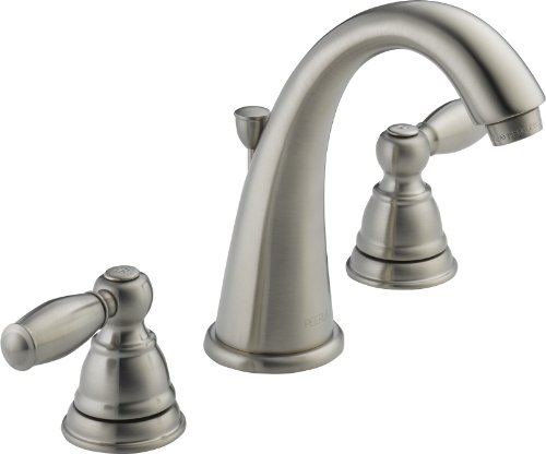 Widespread 2 Handle - Peerless Claymore 2-Handle Widespread Bathroom Faucet with Pop-Up Drain Assembly, Brushed Nickel P299196LF-BN