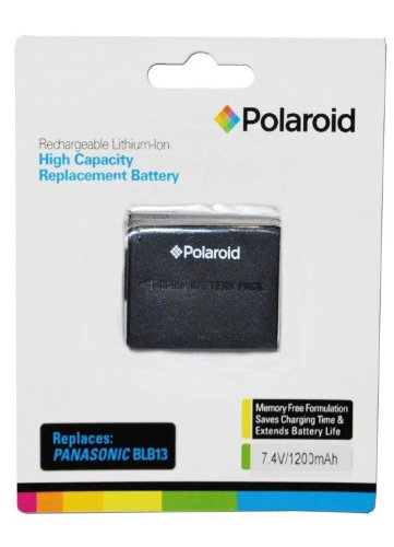 (Polaroid High Capacity Panasonic BLB13 Rechargeable Lithium Replacement Battery (Compatible With: DMC-G10, GH1, G2, G1, L10))