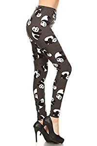 Leggings Depot Women's Fall/Winter Ultra Soft Printed Fashion Leggings BAT16