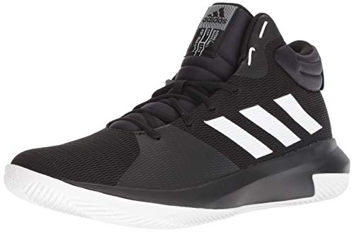 adidas Men's Pro Elevate 2018 Basketball Shoe, White/Black, 10 M US