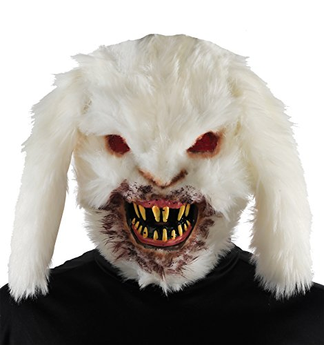 Mario Chiodo Men's Horror Gruesome Rabid Bunny Mask Halloween Costume Accessory -