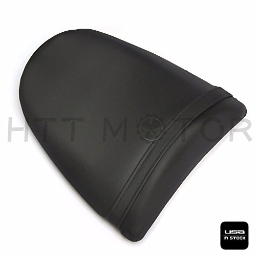 HTTMT PK1003- Black Leather Passenger Back Rear Seat Pillion Compatible with 2003-2004 Kawasaki Ninja ZX6R ()