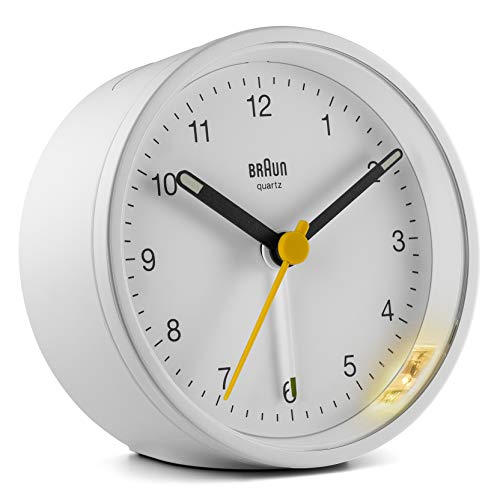 (Ameico Braun Classic Analogue Alarm Clock - BC12W)