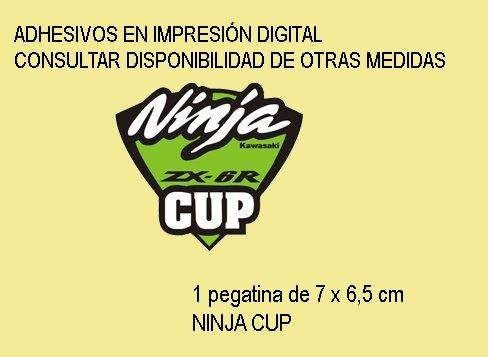 Ecoshirt LV-1634-FYIB Pegatinas Stickers Ninja Cup Ref Fd120 Aufkleber Autocollants Adesivi Moto Decals Motrocycle