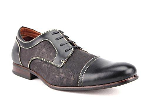 Floral Print Ferro Up Lace 19398l Toe Cap Mens Aldo Shoes Black Oxford Dress a1pc1t