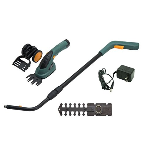 2-In-1 Hedge Grass Shear Trimmer Outsunny Electric Cordless Yard Lawn Mower 3.6V + eBook by eXXtra Store