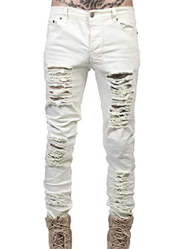 Four Sfilati Jeans Slim Skinny Fit Leisure Bianca Sfilacciato Strappato Uomo Da Giovane Seasons Tliche Per Di Nne 67nwR6Prx