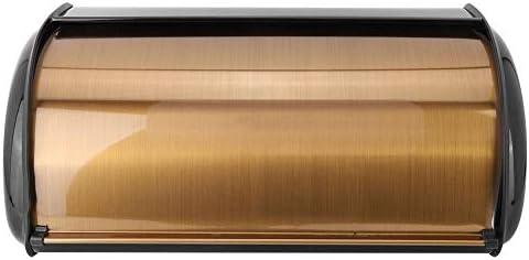 wosume Caja de pan, caja de pan de metal retro dorada Caja de ...