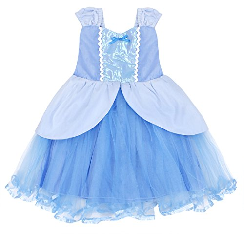 Cotrio Princess Cinderella Costume for Girls Halloween Cosplay Party Fancy Dress up Size 8 (130, Cinderella Tutu Dress) by Cotrio (Image #4)