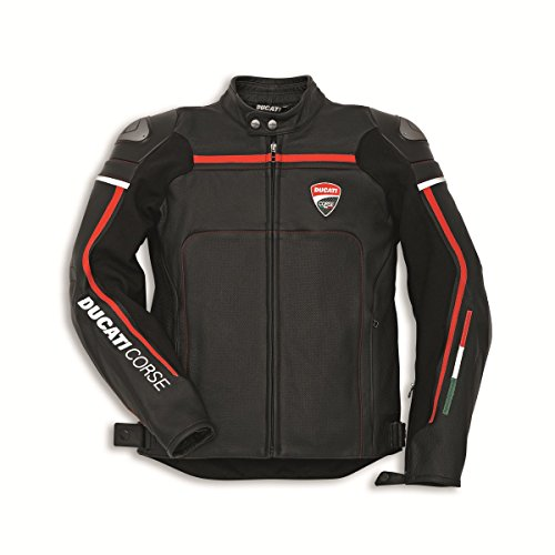 Ducati 981030158 Corse C2 Perforated Leather Riding Jacket - Black - Size 58