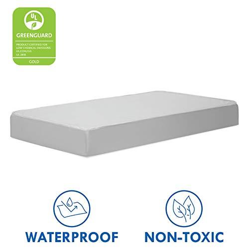 DaVinci Complete Slumber Waterproof Crib & Toddler Mattress | Firm Support | GREENGUARD Gold Certified | Lightweight | 100% Non-Toxic (Best Mini Crib Mattress)