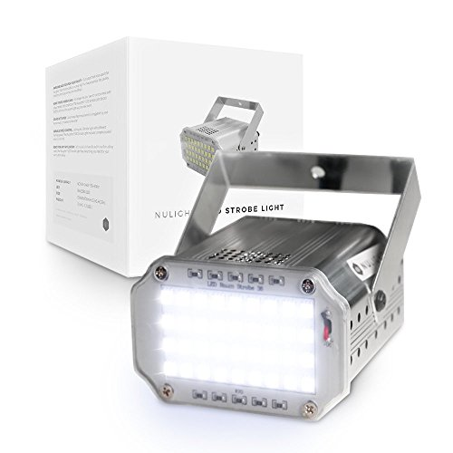 LED Strobe Light by NuLights - Strobe Flash Party Lights - 100% RISK FREE! Best for Birthdays, DJ/Disco Parties & Children's Parties - Mini Strobe Light with 36 LEDs, Sound Activated, Variable Speed