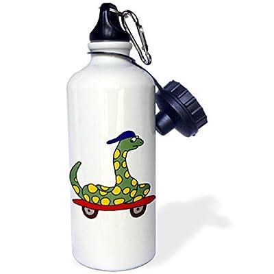 statuear Serpent vert sur Skateboard en aluminium 20once bouteille d'eau Sport 600ml Coffret cadeau