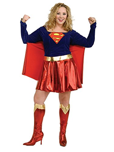 Rubie's Costume Co DC Comics Supergirl Adult Costume Red/Blue]()